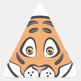 Style de tigre sticker triangulaire