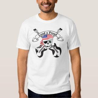 Style des Etats-Unis de pirate de roche T-shirts