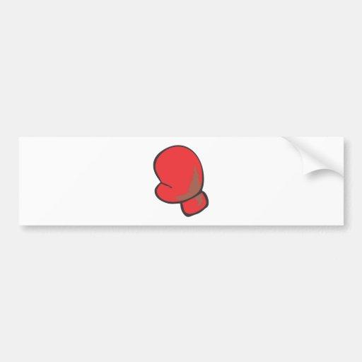 Style dessiné de gant de boxe à disposition adhésifs pour voiture