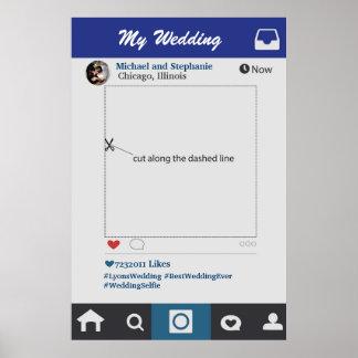 Style d'Instagram épousant l'appui vertical de Poster