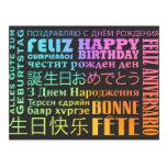 Style d'International de joyeux anniversaire Cartes Postales