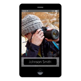 style d'IOS d'iPhone - profil personnel de photo Carte De Visite Standard