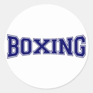 Style d'université de boxe sticker rond