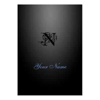Style élégant noir de Nouveau Carte De Visite Grand Format