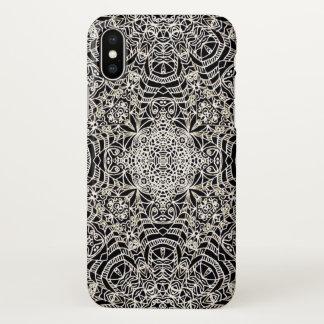 style ethnique G419 de Mehndi de cas de l'iPhone X Coque iPhone X