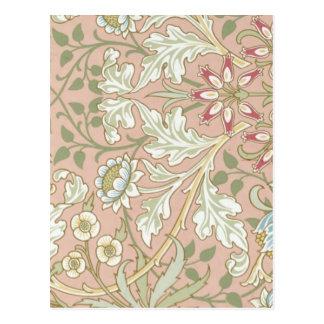 Style floral de cru d'art déco de motif carte postale