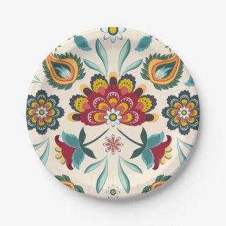 Style floral d'Indonésien de Boho de batik Assiettes En Papier