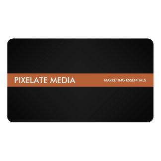 Style foncé professionnel avec l'accent orange carte de visite standard