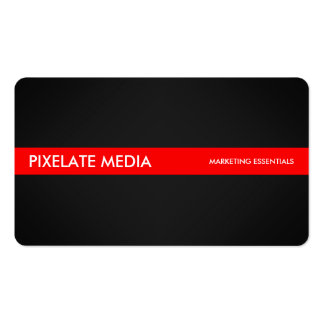 Style foncé professionnel avec l'accent rouge carte de visite standard