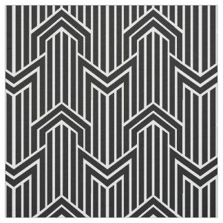 Style géométrique d'art déco de Chevron Tissu