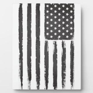 Style grunge noir de purge de drapeau américain plaque photo