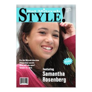Style ! Invitation de magazine de bat mitzvah