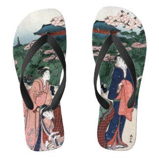Style japonais de cru d'art tongs