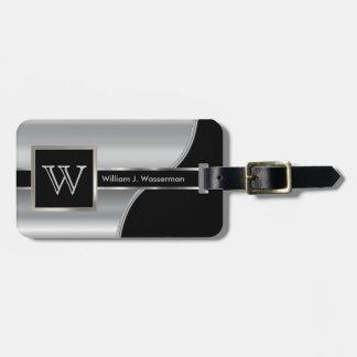 Style masculin d'exécutif de monogramme en métal étiquettes bagages