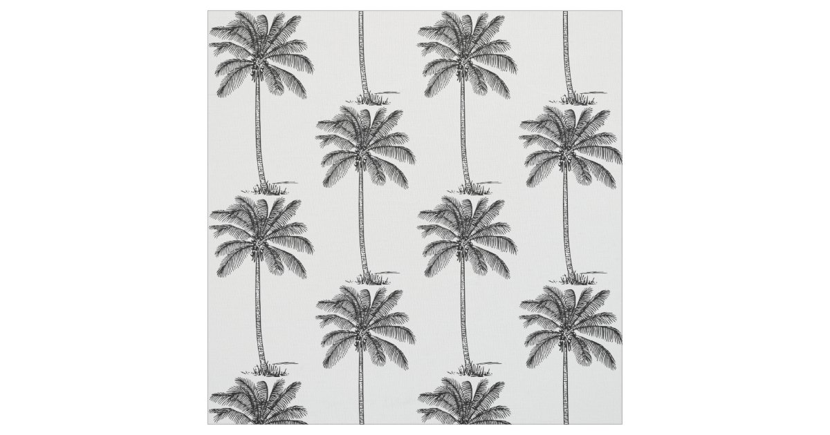 Drawing Smooth Lines With Cocos D : Style motif de palmiers noix coco dessin tissu