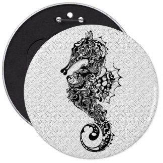 Style noir et blanc de Hippocampe-Tatouage Badges