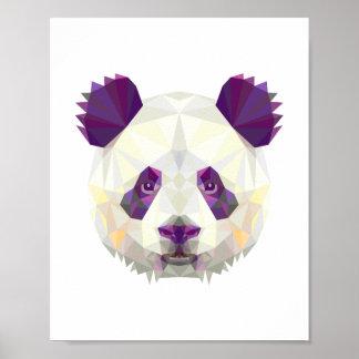 Style nordique géométrique d'ours panda poster