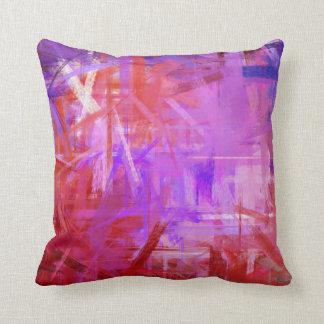 Style pourpre rouge de peinture de beaux-arts oreiller