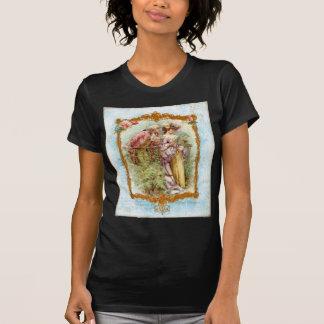Style romantique de Regency de Français de couples T-shirt
