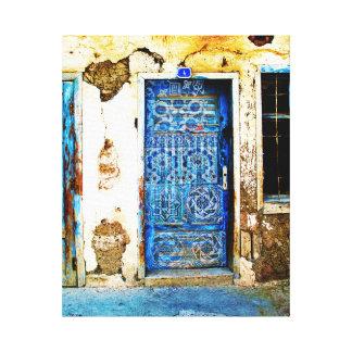 Cadeaux porte grecque bleue t shirts art posters for Porte grecque