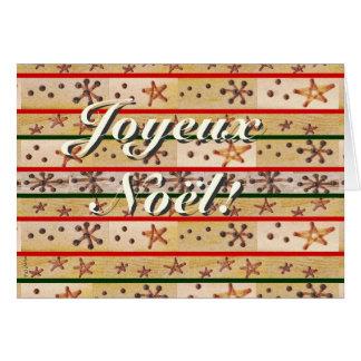 Style Rustique de Voeux Joyeux Noël tiré à quatre Carte De Vœux