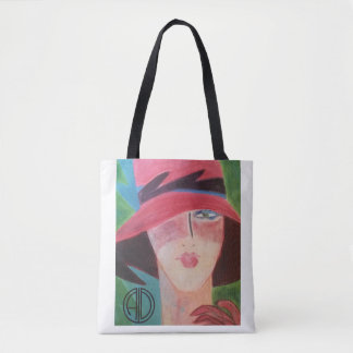 Style tropical d'art déco par Anne DePasquale Tote Bag