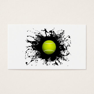 Style urbain de tennis cartes de visite