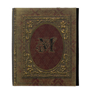 Style victorien de vieux livre de Fellowsbey Étuis iPad Folio