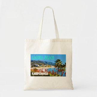 Style vintage d'affiche de voyage de Laguna Beach Sac De Toile