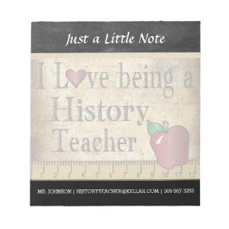 Style vintage du professeur | d'histoire blocs notes