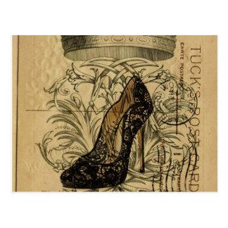stylet vintage de la Reine de mode de Paris de Carte Postale