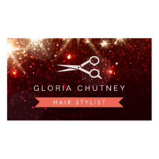 Styliste en coiffure de salon de coiffure - carte de visite standard