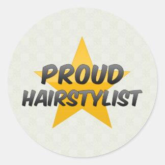Styliste en coiffure fier adhésif rond