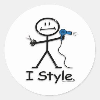 Styliste en coiffure sticker rond