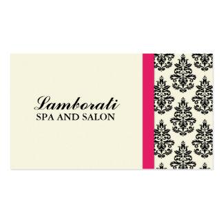Styliste floral de wedding planner de damassé carte de visite standard