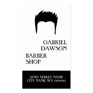 Styliste moderne de raboteuse de cheveux de salon carte de visite standard