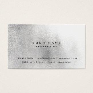 Styliste noir gris blanc de verre VIP d'Ombre Cartes De Visite