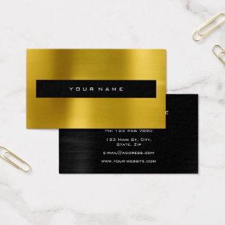 Styliste noir métallique tropical de mode de cartes de visite