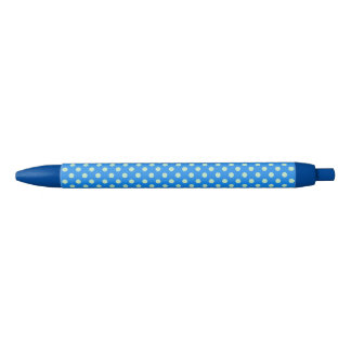 Stylo bleu personnalisable de point de polka