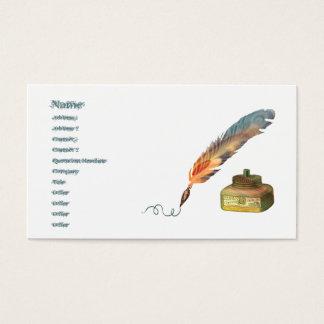 Stylo de plume cartes de visite