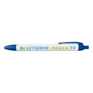 Stylo Noir Logo des médias TV des citoyens