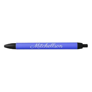 Stylo Noir Manuscrit bleu personnalisé de Parisienne