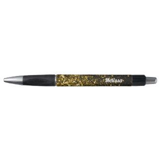 Stylo Personnalisez les belles étincelles d'or jaune