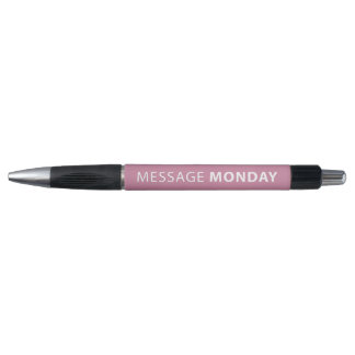 Stylo rose de couleur de lundi de message