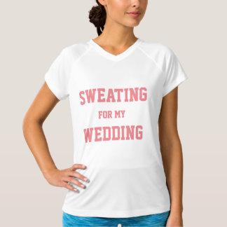 """""""Suant T-shirt nuptiale de séance d'entraînement"""