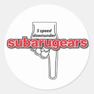 Subarugears 5 autocollants de downunder de vitesse