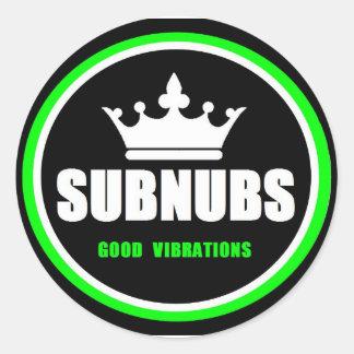SubNubs_GoodVibrations Sticker Rond