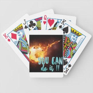 Succès inspiré de motivation du football jeu de poker