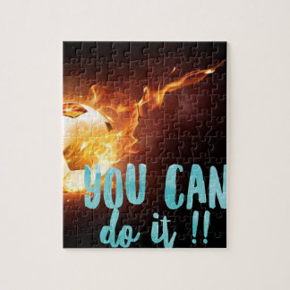 Succès inspiré de motivation du football puzzle