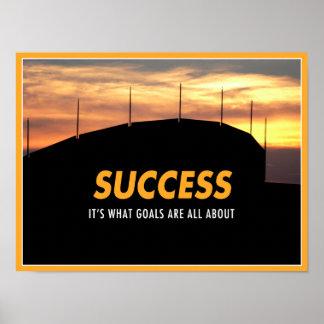 Succès par des buts poster